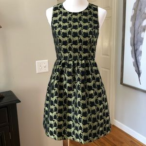 Crown and Ivy Zebra Novelty Print Fit Flare Dress